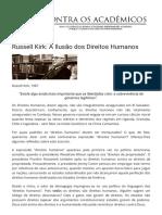 Russell Kirk_ A Ilusão dos Direitos Humanos - Contra os Acadêmicos