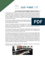 « Protéger et autonomiser les enfants et jeunes réfugiés et migrants au Maroc »