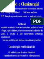 Lezione 12. Antibiotici e chemioterapici antibatterici e ant