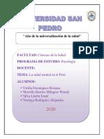 LA SALUD MENTAL EN EL PERU