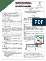 Apostila de Matemática Financeira (19 páginas, 139 questões, com gabarito)
