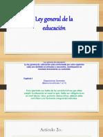 Ley general de educación titulo I,II,III,IV