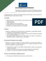 Estructura Informe de Experiencia Profesional