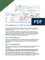 Data Migration in SAP S4 HANA