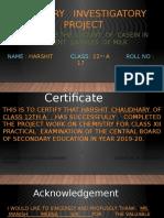 CHEMISTRY   INVESTIGATORY    PROJECT    HARSHIT.pptx