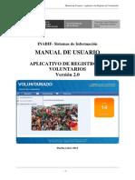 APLICATIVO DE REGISTRO DE VOLUNTARIOS