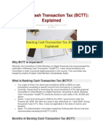 BANKING CASH TRANSACTION TAX