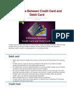 CREDIT CARD VS DEBIT CARD.docx