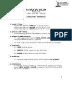 Futsalón Condiciones 2019