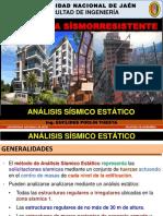 06. ANALISIS SISMICO ESTATICO (INGENIERIA SISMORRESISTENTE UNJ 2019-2)