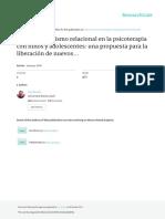 2000 PACHECO y BOTELLA -El constructivismo relacional en la psicoterapia con niños y adolescentes