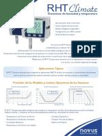 Transmisor de Humedad y Temperatura - Folleto Rht Climate - 20190527
