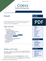 Symbol Codes _ French