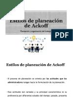 Estilos de planeación de Ackoff