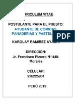 CURRICULUM KAROLAY RAMIREZ AYACHI