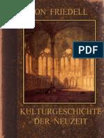 Friedell, Egon - Kulturgeschichte der Neuzeit