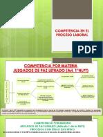 Competencia en el proceso laboral Proceso Ordinario Laboral