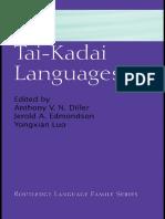 Diller . The Tai-Kadai Languages
