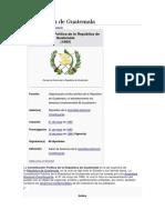 Constitución de Guatemala, PARTES, ESTRUCTURA, ETC