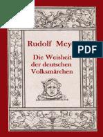 RUDOLF  MEYER - WEISHEIT  DER  DEUTSCHEN  VOLKSMÄRCHEN
