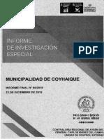 INFORME FINAL INVESTIGACIÓN ESPECIAL Nº 80 - 2018 MUNICIPALIDAD DE COYHAIQUE SOBRE DIVERSAS IRREGULARIDADES EN CONTRATACIONES DICIEMBRE-2019