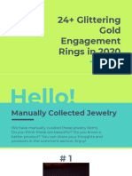 24+ Glittering Gold Engagement Rings in 2020