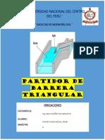 PARTIDOR DE BARRERA TRIANGULAR