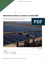 Mantenimiento predictivo y correctivo en centrales ERNC