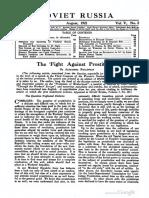 "Alexandra Kollontai, ""The fight against prostitution"", Soviet Russia, Vols. 4-5, Jan-Dec 1921, Pp. 42-47, 118-122."