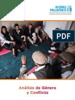 Análisis de género y conflicto. ONU MUJERES