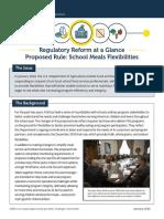 School Meals Flexibilities Fact Sheet