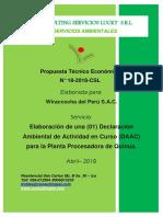 PTE N° 18 DAAC Planta Procesadora de Quinua.