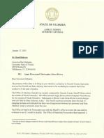 Florida AG Ashley Moody's Letter to DeSantis on Nicole Montalvo Case