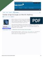 Cambiar el logo de Google con MikroTik WebProxy _ Comunidad ryohnosuke