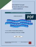 MEMORIA TECNICA DE LOS SISTEMAS DE ABASTECIMIENTO DE AAPP. AASS. y AALL.-PROYECTO
