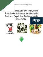 Línea de Tiempo de nuestro Cmdte Hugo Chávez......odt