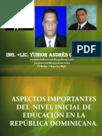 ASPECTOS IMPORTANTES DEL NIVEL INICIAL DE EDUCACIÓN EN LA REPÚBLICA DOMINICANA.ppt