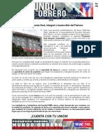 Boletin I La inverosímil Propuesta final, Integral e inamovible del Patrono