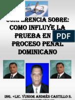 Como influye la prueba en el Proceso Penal Dominicano.ppt