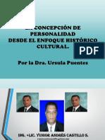 CONCEPCION DE PERSONALIDAD DESDE EL ENFOQUE HISTORICO CULTURAL.PPT