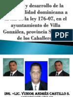 Avance y desarrollo de la municipalidad dominicana a la luz de la ley 176-07.ppt