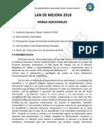 PLAN DE HORAS ADICIONALES 2018