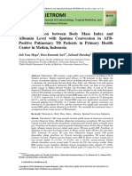 The Correlation between Body Mass Index and Albumin Level with Sputum Conversion in AFB-Positive Pulmonary TB Patients in Primary Health Center in Medan, Indonesia