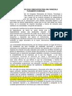 Consideraciones Teorico-Politicas para la Ciencia y Tecnologia en la Revolcuion Bolivariana Venezolana.docx