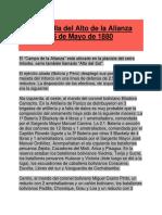 4    La batalla del Alto de la Alianza -  26 de Mayo de 1880