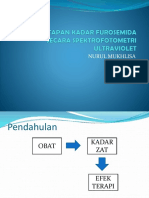 PENETAPAN KADAR FUROSEMIDA SECARA SPEKTROFOTOMETRI ULTRAVIOLET analisis instrumen nurul dan syaharuni.pptx