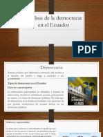 Análisis de la democracia en el Ecuador