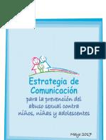 Estrategia de Comunicación - Prevención Abuso sexual