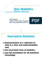 Descriptive Statistic A Review