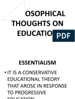 Lec 2-PHILOSOPHICAL THOUGHTS ON EDUCATION